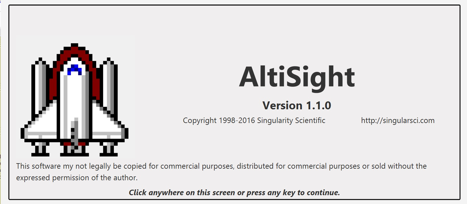 Altisight splash screen